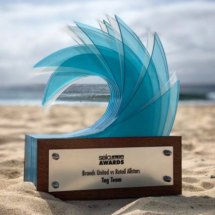 every year as part of the sbia surf industry awards we hold a tag team surfing event the event originally started at manly nsw with the 2012 surf industry